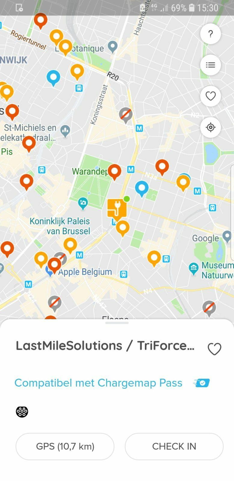 google maps laadpalen