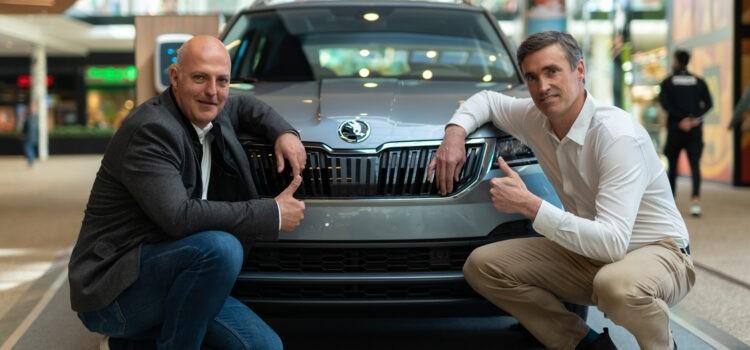 Thierry De Vleeschouwer et Karl Lechat Skoda