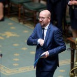 Belgian Prime Minister Charles Michel pictured during a plenary session of the chamber at the federal parliament in Brussels, with the political declaration of Belgian Prime Minister, Sunday 16 October 2016. The governmental declaration was initialy set on 11 October but there was no agreement on budget yet, and it was rescheduled on a Sunday. BELGA PHOTO NICOLAS MAETERLINCK