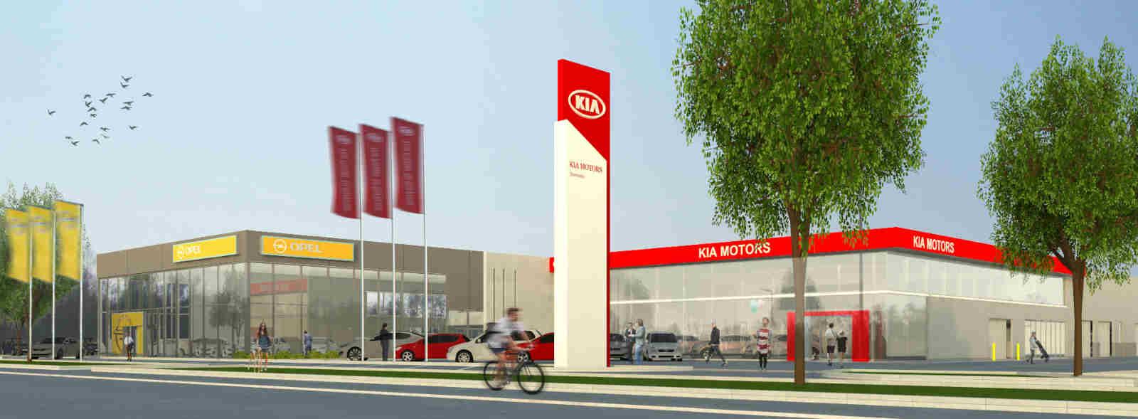 Opel Kia Grensland Autogroep - PSR Bedrijvenpark Gent Noord-optimized