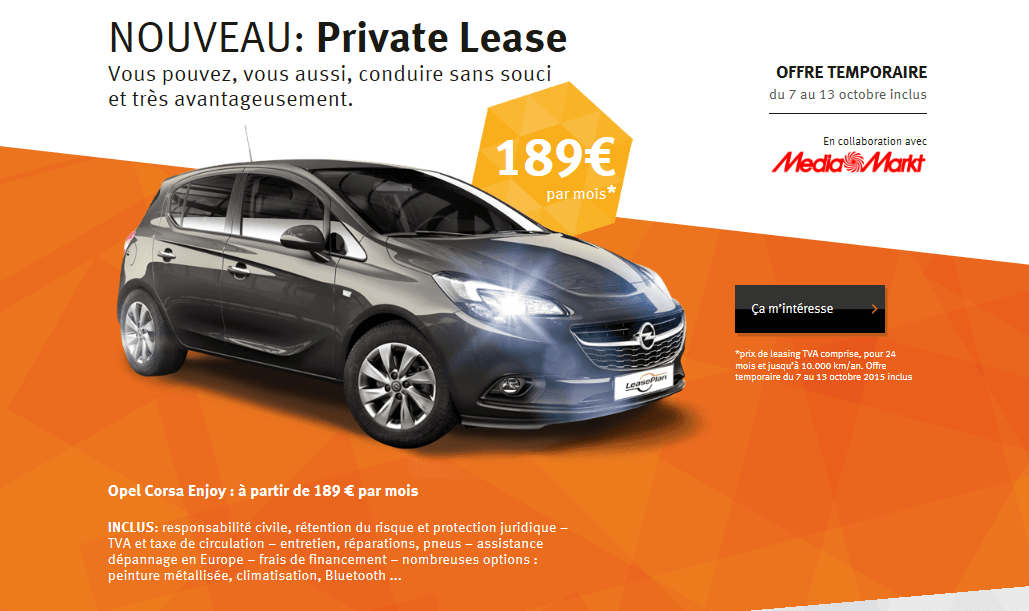 leaseplan succ s pour l opel corsa chez media markt fleet. Black Bedroom Furniture Sets. Home Design Ideas
